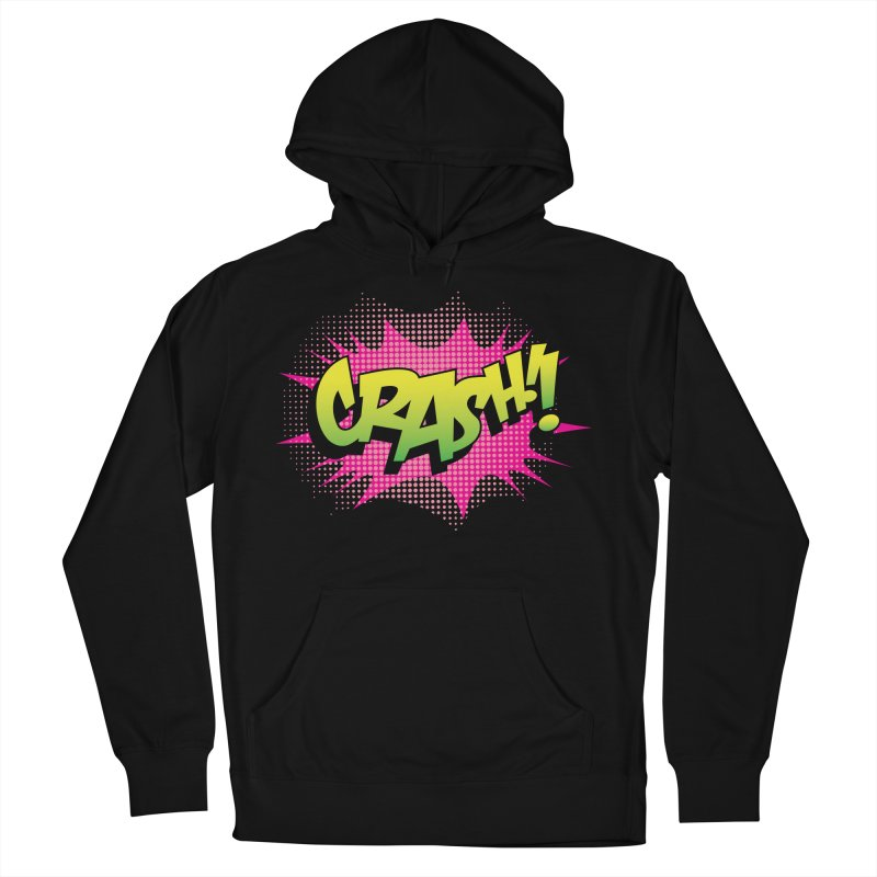 CRASH! Men's French Terry Pullover Hoody by periwinkelle's Artist Shop