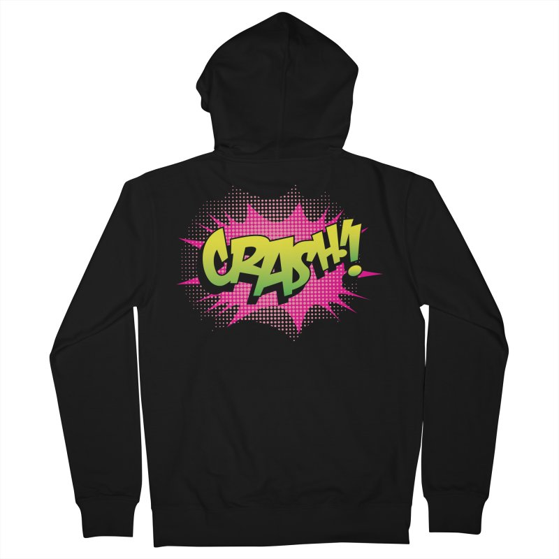 CRASH! Men's French Terry Zip-Up Hoody by periwinkelle's Artist Shop