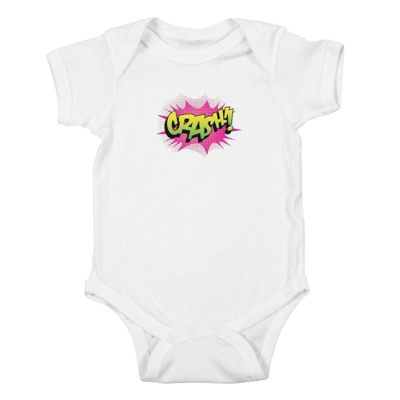 CRASH! Kids Baby Bodysuit by periwinkelle's Artist Shop