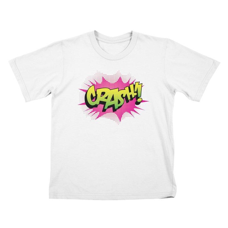 CRASH! Kids T-Shirt by periwinkelle's Artist Shop