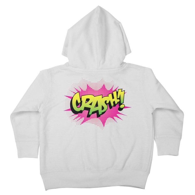 CRASH! Kids Toddler Zip-Up Hoody by periwinkelle's Artist Shop