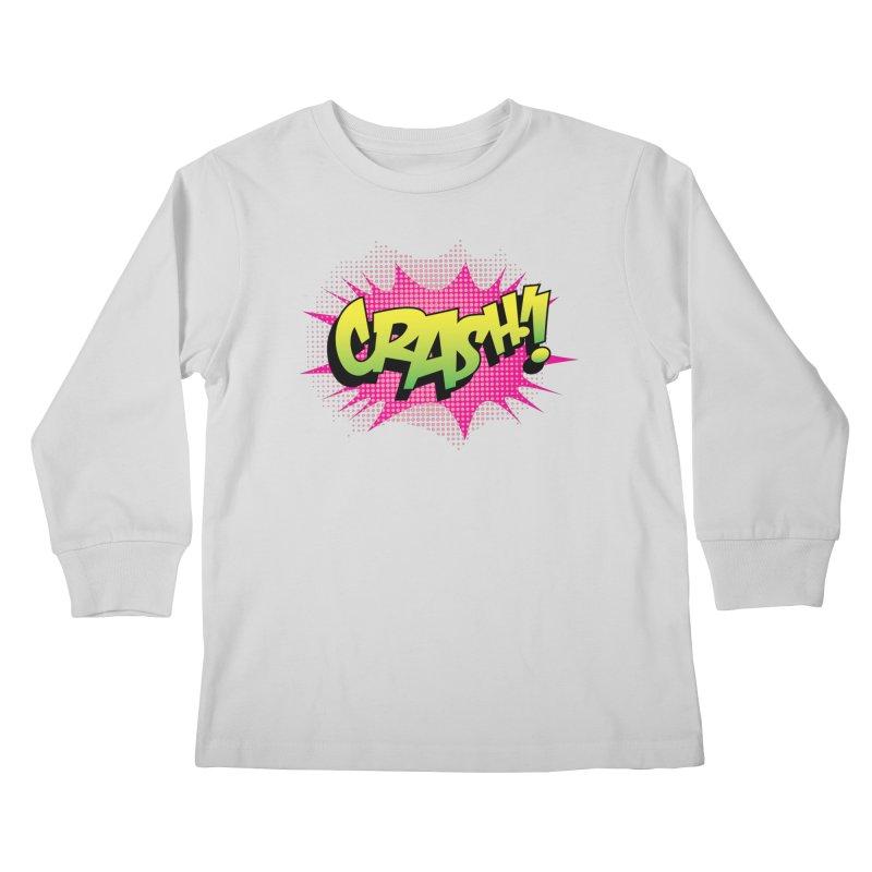 CRASH! Kids Longsleeve T-Shirt by periwinkelle's Artist Shop