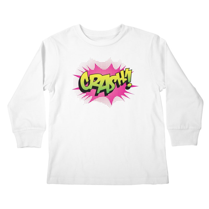 CRASH! Kids Longsleeve T-Shirt by periwinkelle's Artist Shop