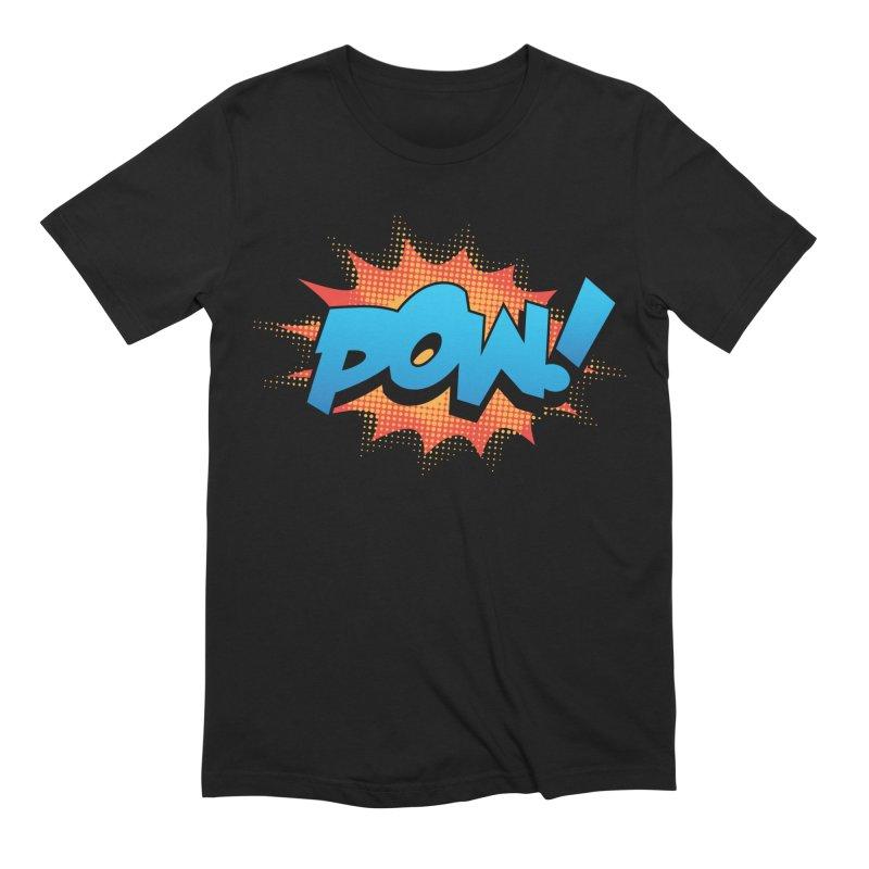POW! Men's Extra Soft T-Shirt by periwinkelle's Artist Shop