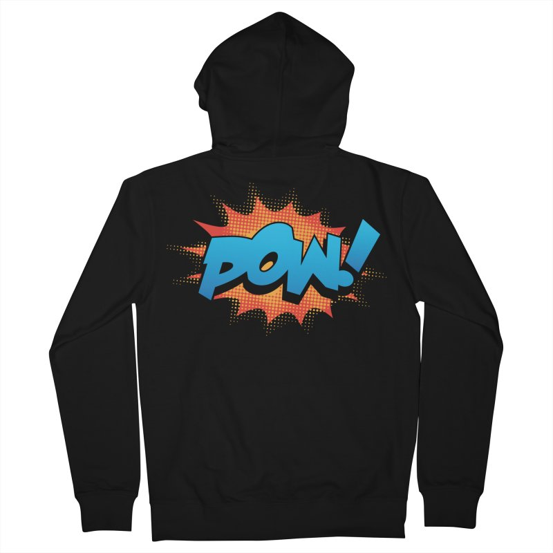 POW! Women's French Terry Zip-Up Hoody by periwinkelle's Artist Shop