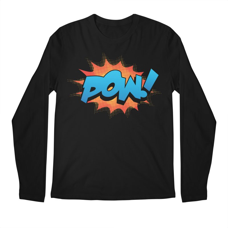 POW! Men's Regular Longsleeve T-Shirt by periwinkelle's Artist Shop