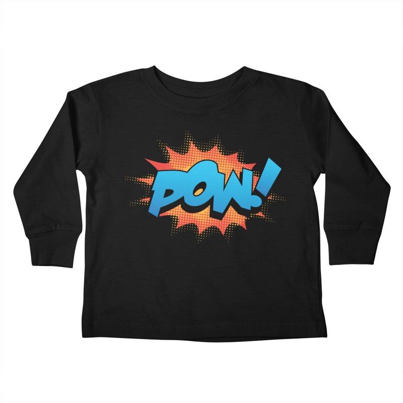 POW! Kids Toddler Longsleeve T-Shirt by periwinkelle's Artist Shop