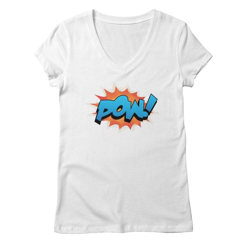 POW! Women's Regular V-Neck by periwinkelle's Artist Shop