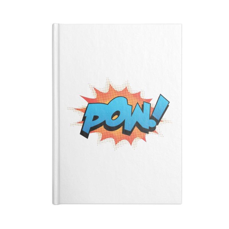 POW! Accessories Blank Journal Notebook by periwinkelle's Artist Shop