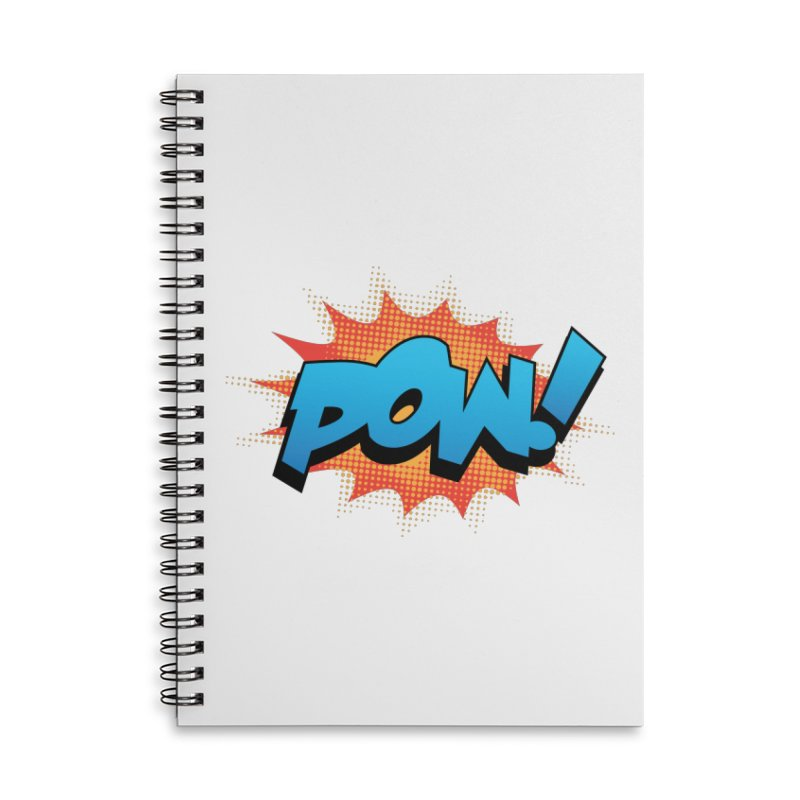 POW! Accessories Lined Spiral Notebook by periwinkelle's Artist Shop