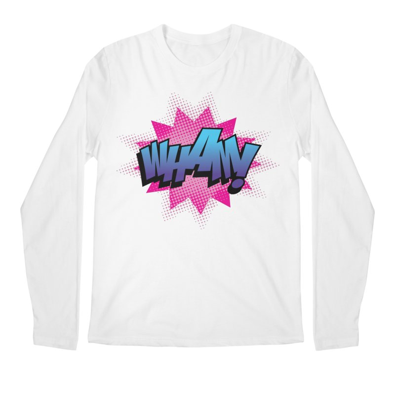 WHAM! Men's Regular Longsleeve T-Shirt by periwinkelle's Artist Shop