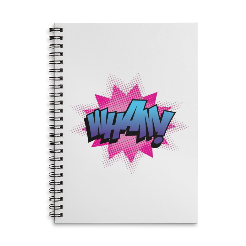 WHAM! Accessories Lined Spiral Notebook by periwinkelle's Artist Shop
