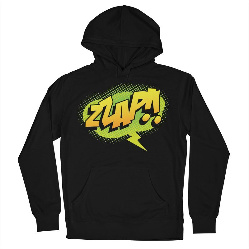 ZZAP!! Women's French Terry Pullover Hoody by periwinkelle's Artist Shop