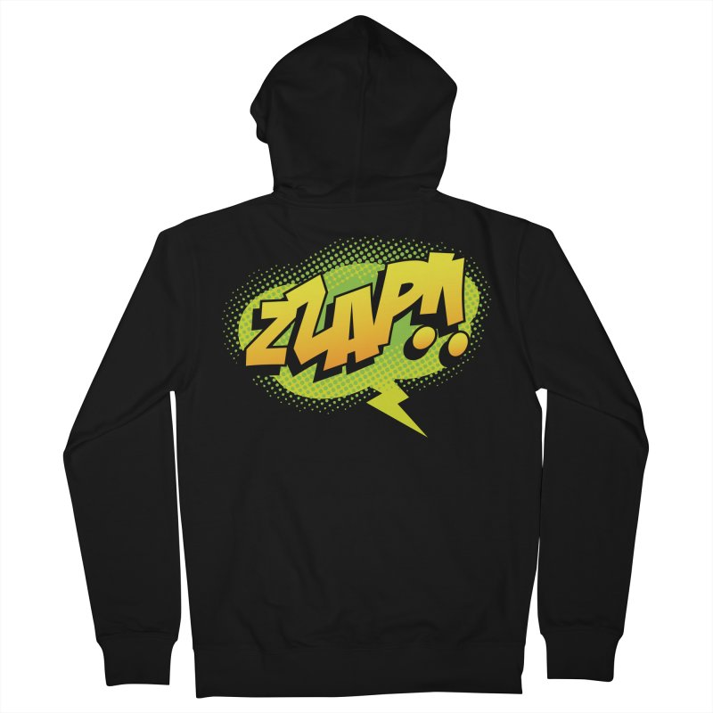 ZZAP!! Men's Zip-Up Hoody by periwinkelle's Artist Shop