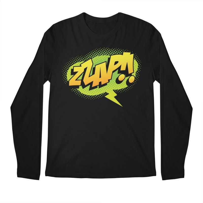 ZZAP!! Men's Regular Longsleeve T-Shirt by periwinkelle's Artist Shop