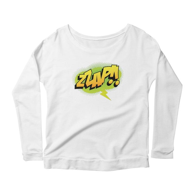ZZAP!! Women's Scoop Neck Longsleeve T-Shirt by periwinkelle's Artist Shop