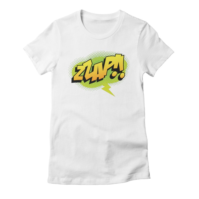 ZZAP!! Women's Fitted T-Shirt by periwinkelle's Artist Shop