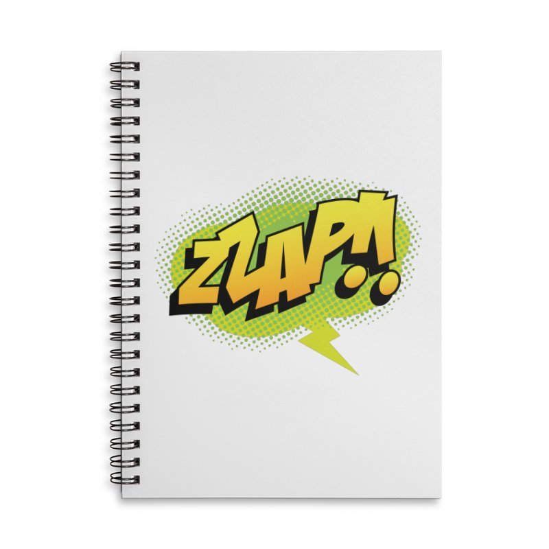 ZZAP!! Accessories Lined Spiral Notebook by periwinkelle's Artist Shop