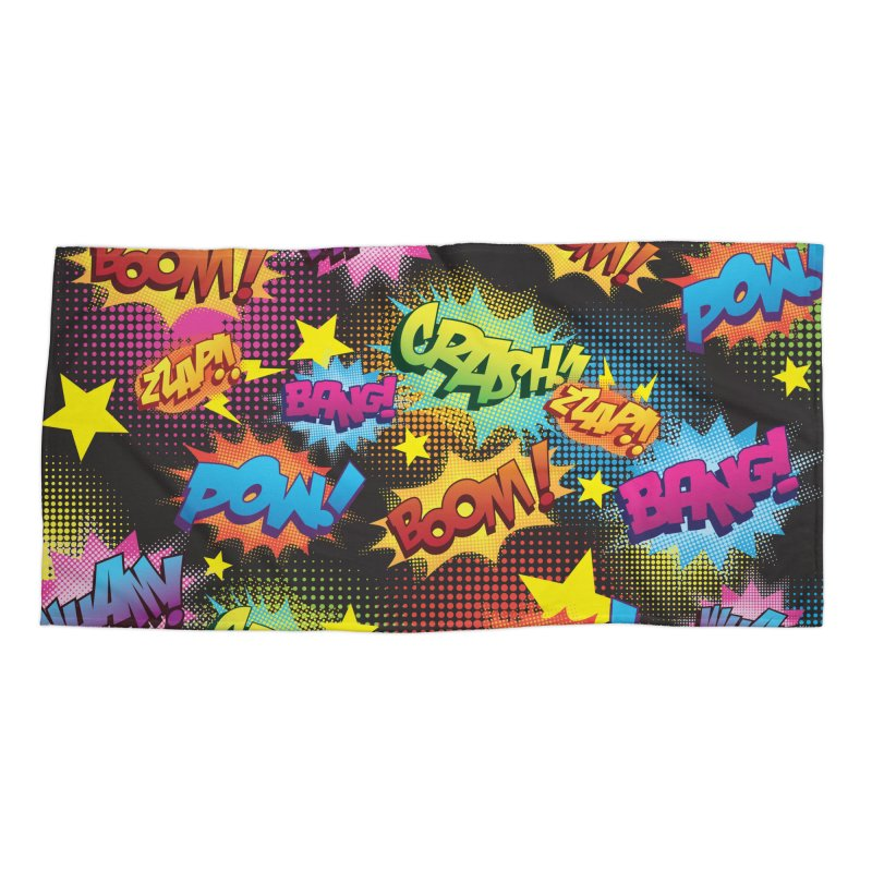 Onomatopoeia! Accessories Beach Towel by periwinkelle's Artist Shop