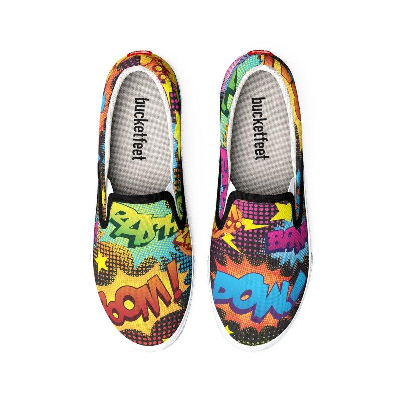 Onomatopoeia! Women's Shoes by periwinkelle's Artist Shop