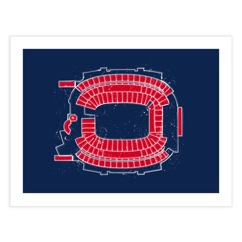 Homefield New England Home Fine Art Print by Permanent Inc.