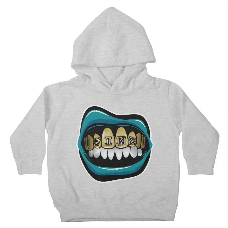 Fins Grillz [MIA] Kids Toddler Pullover Hoody by Permanent Inc.