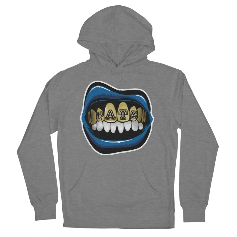 Pats Grillz [NE] Women's French Terry Pullover Hoody by Permanent Inc.