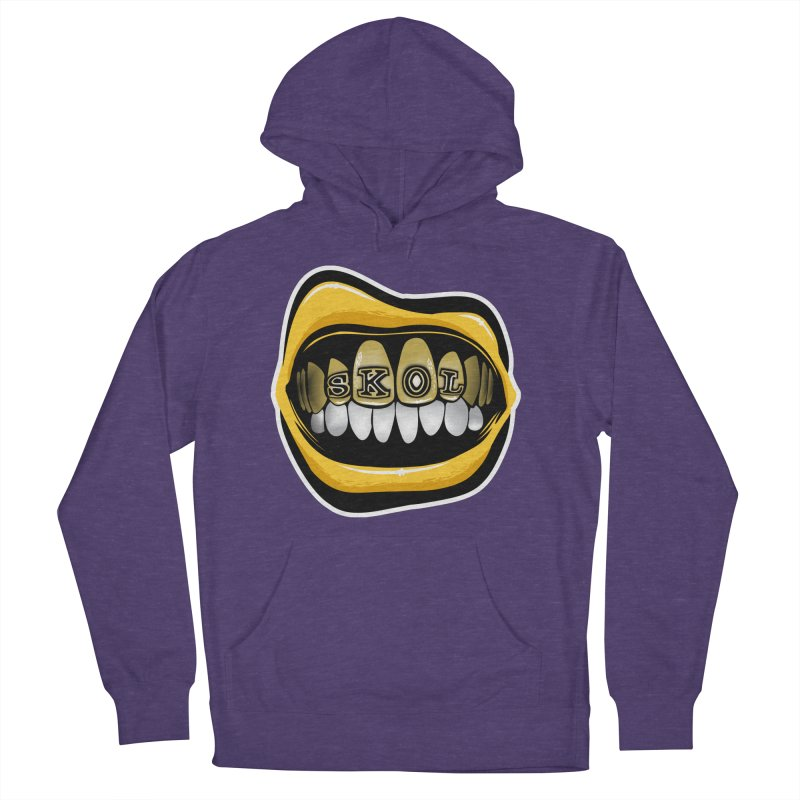 Vikes Grillz [MIN] Women's French Terry Pullover Hoody by Permanent Inc.