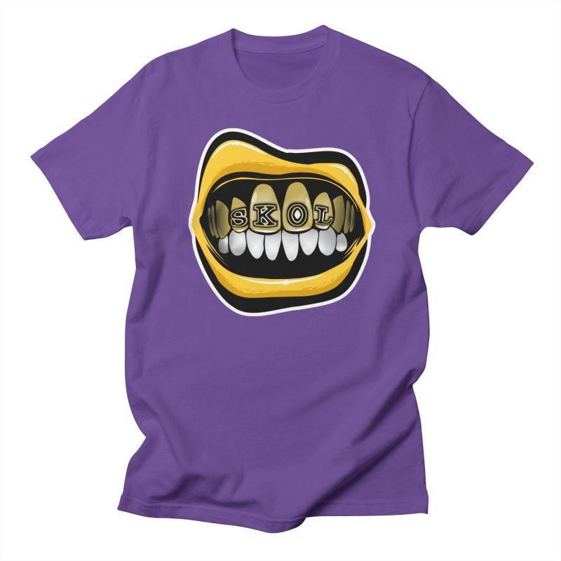 Vikes Grillz [MIN] Women's Regular Unisex T-Shirt by Permanent Inc.