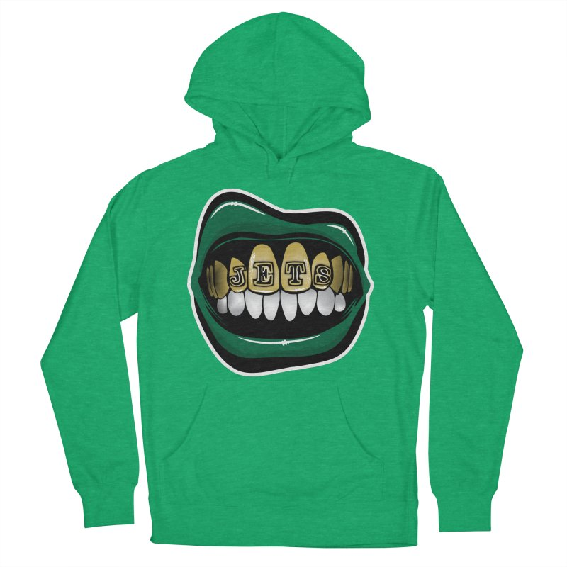 Gang Green Grillz Women's French Terry Pullover Hoody by Permanent Inc.