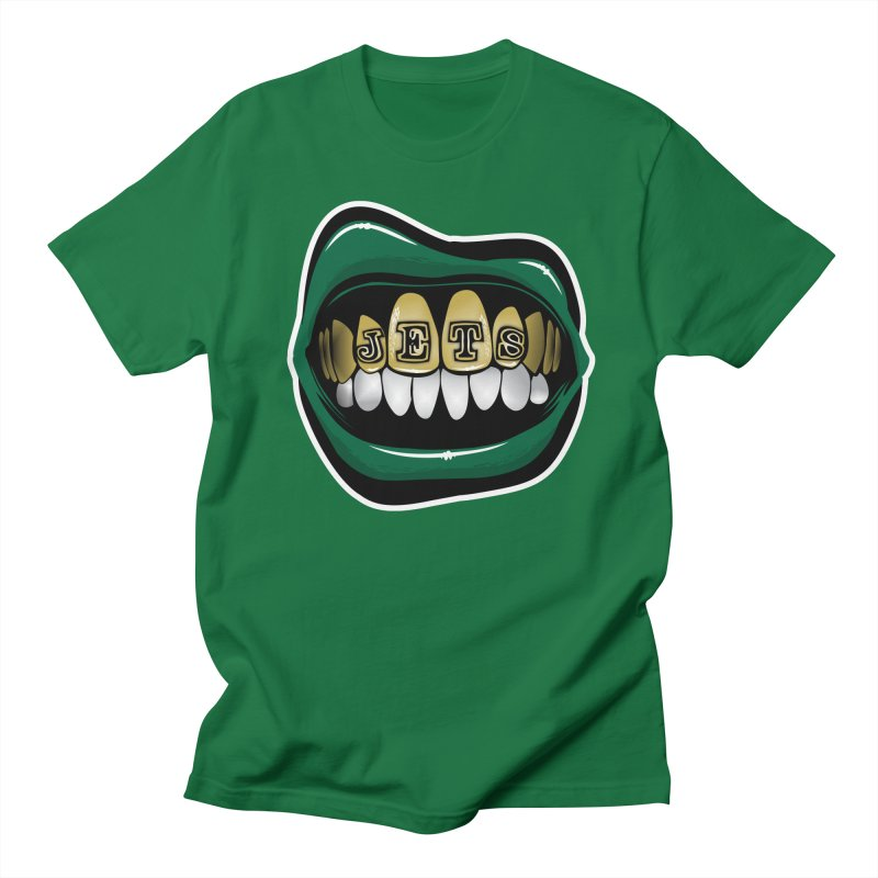 Gang Green Grillz Women's Regular Unisex T-Shirt by Permanent Inc.