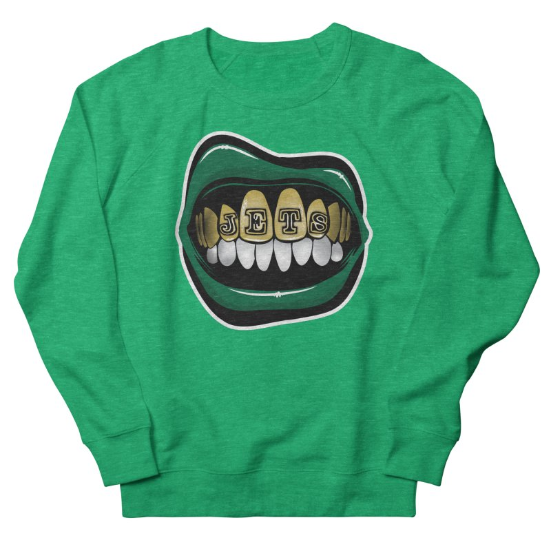 Gang Green Grillz Women's French Terry Sweatshirt by Permanent Inc.