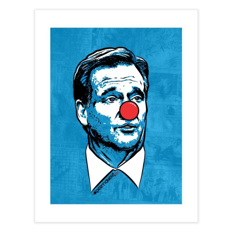 Clown Commissioner Newsie Home Fine Art Print by Permanent Inc.