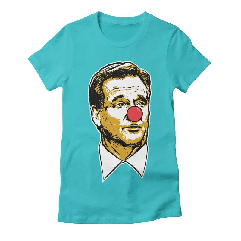 Jacksonville Clown Women's Fitted T-Shirt by Permanent Inc.