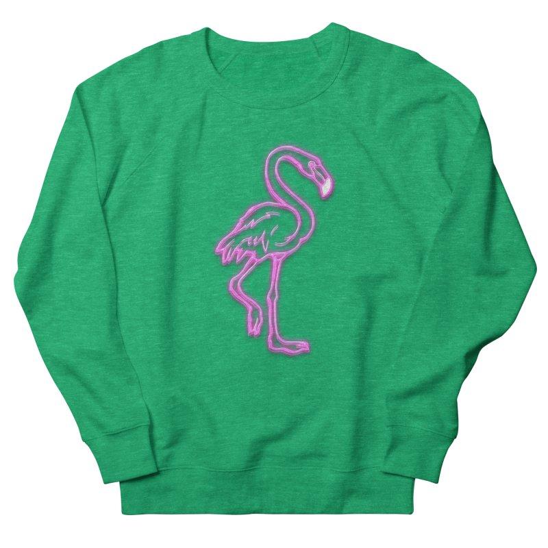 Perttyshirty Pink Flamingo Neon Sign Party Design Retro Vintage