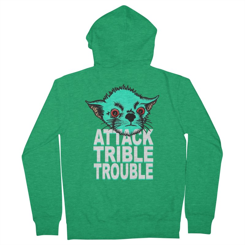 ATTACK TRIBLE TROUBLE Women's French Terry Zip-Up Hoody by pesst's Artist Shop