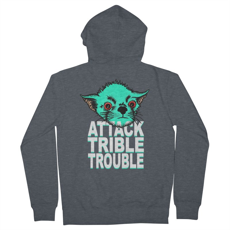 ATTACK TRIBLE TROUBLE Women's Zip-Up Hoody by pesst's Artist Shop