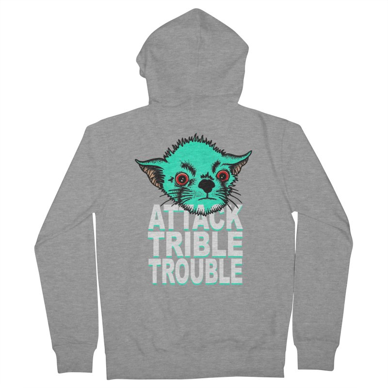ATTACK TRIBLE TROUBLE Men's French Terry Zip-Up Hoody by pesst's Artist Shop
