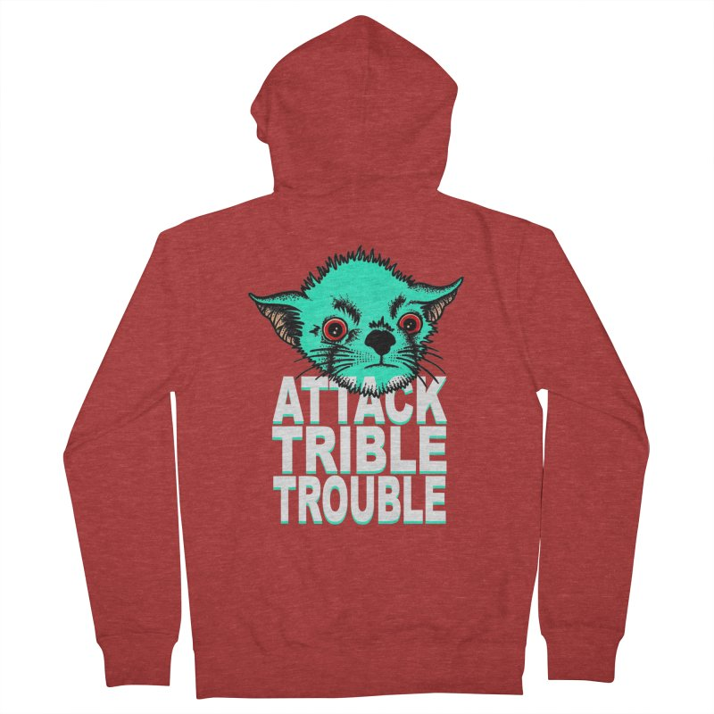 ATTACK TRIBLE TROUBLE Men's Zip-Up Hoody by pesst's Artist Shop