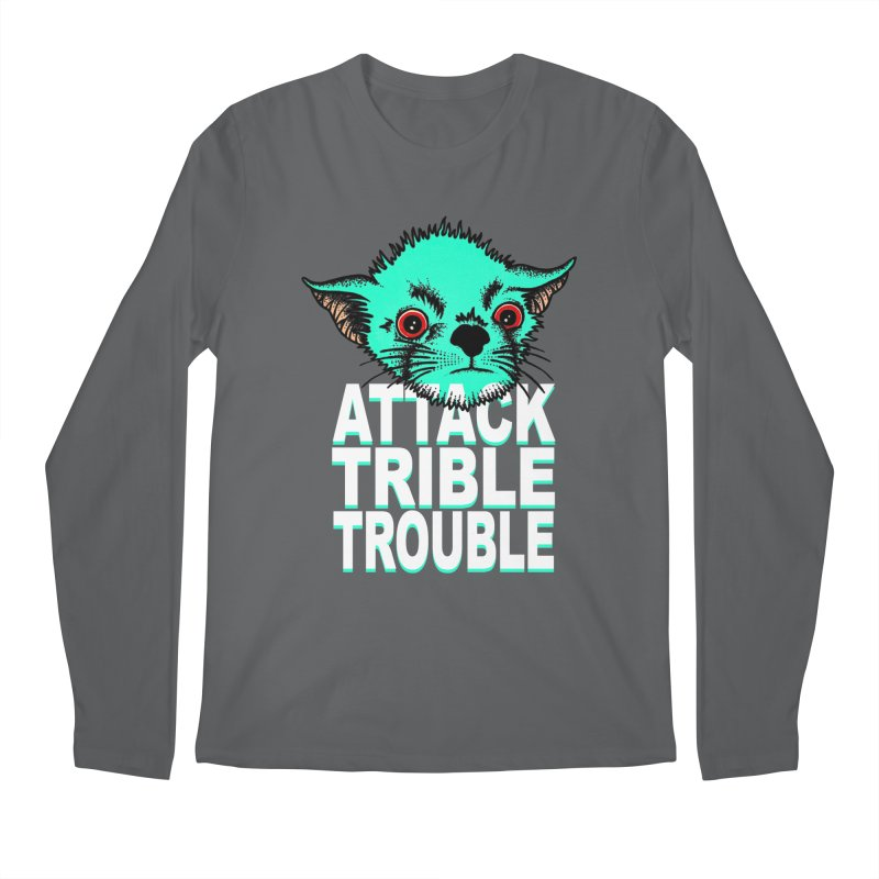 ATTACK TRIBLE TROUBLE Men's Regular Longsleeve T-Shirt by pesst's Artist Shop