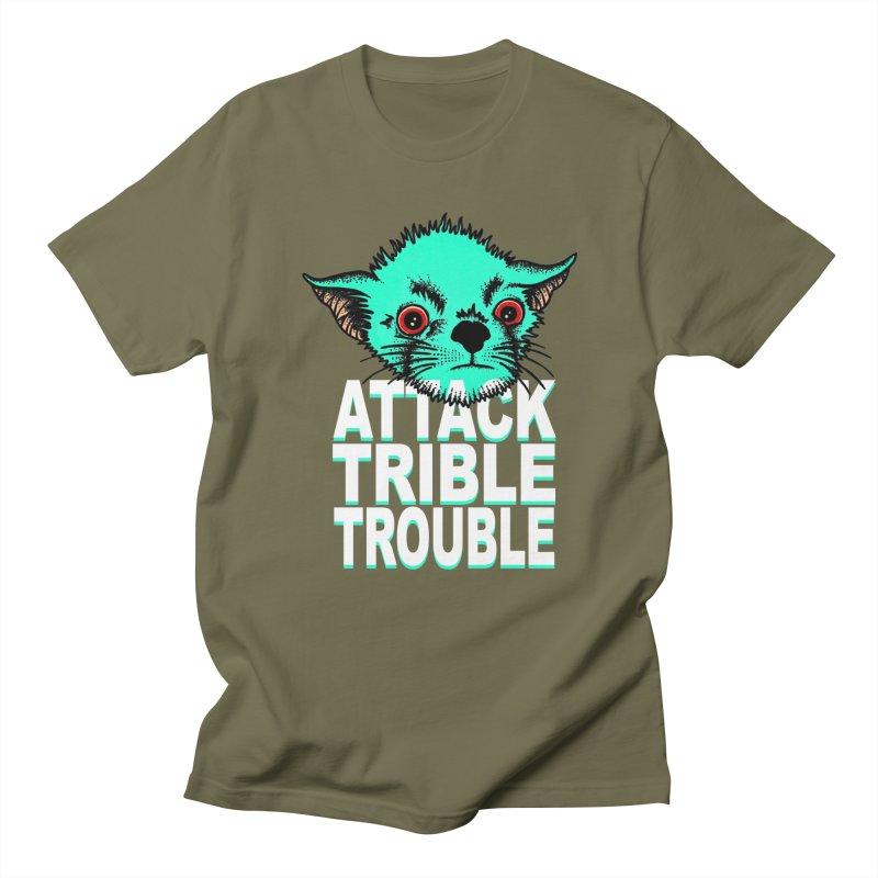 ATTACK TRIBLE TROUBLE Men's Regular T-Shirt by pesst's Artist Shop