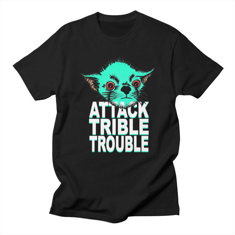 ATTACK TRIBLE TROUBLE Men's Regular T-Shirt by pesst's Artist Shop