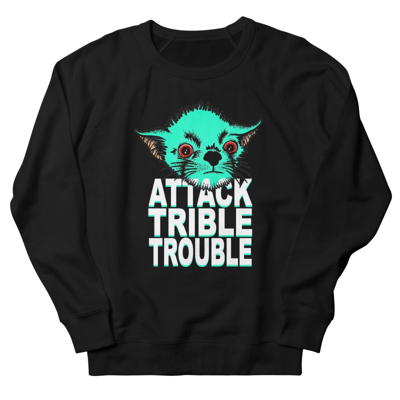 ATTACK TRIBLE TROUBLE Women's French Terry Sweatshirt by pesst's Artist Shop
