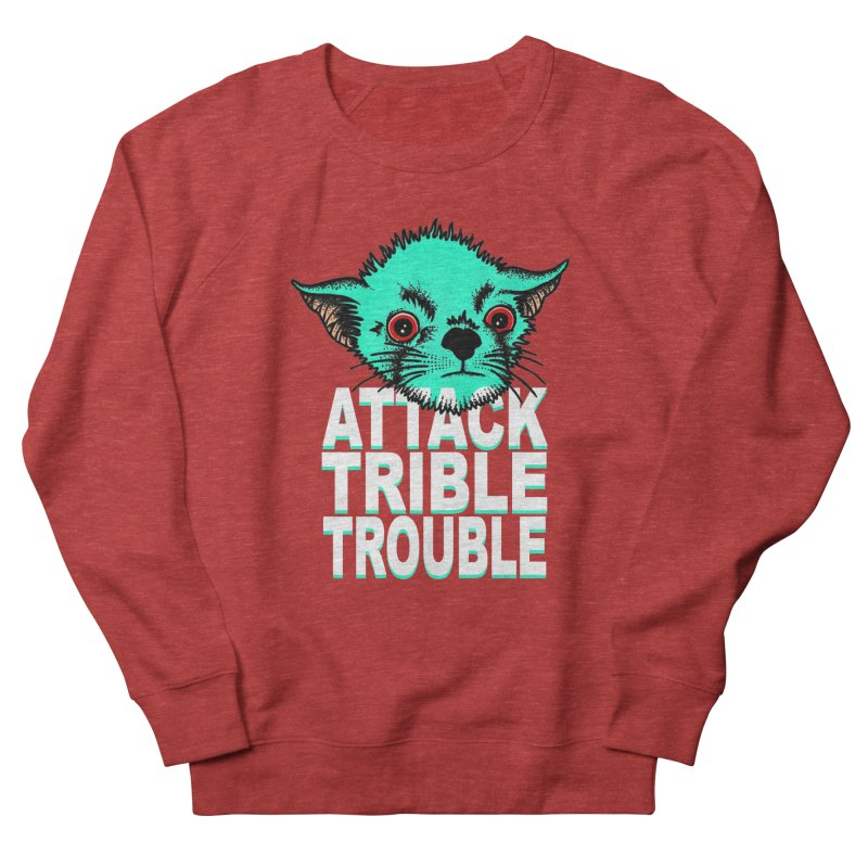 ATTACK TRIBLE TROUBLE Men's French Terry Sweatshirt by pesst's Artist Shop