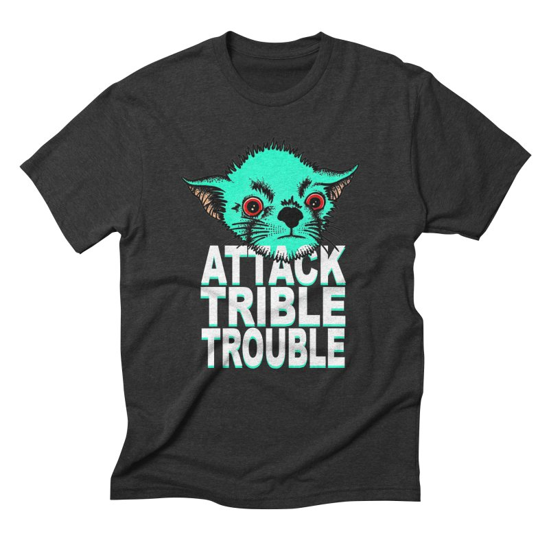 ATTACK TRIBLE TROUBLE Men's Triblend T-Shirt by pesst's Artist Shop