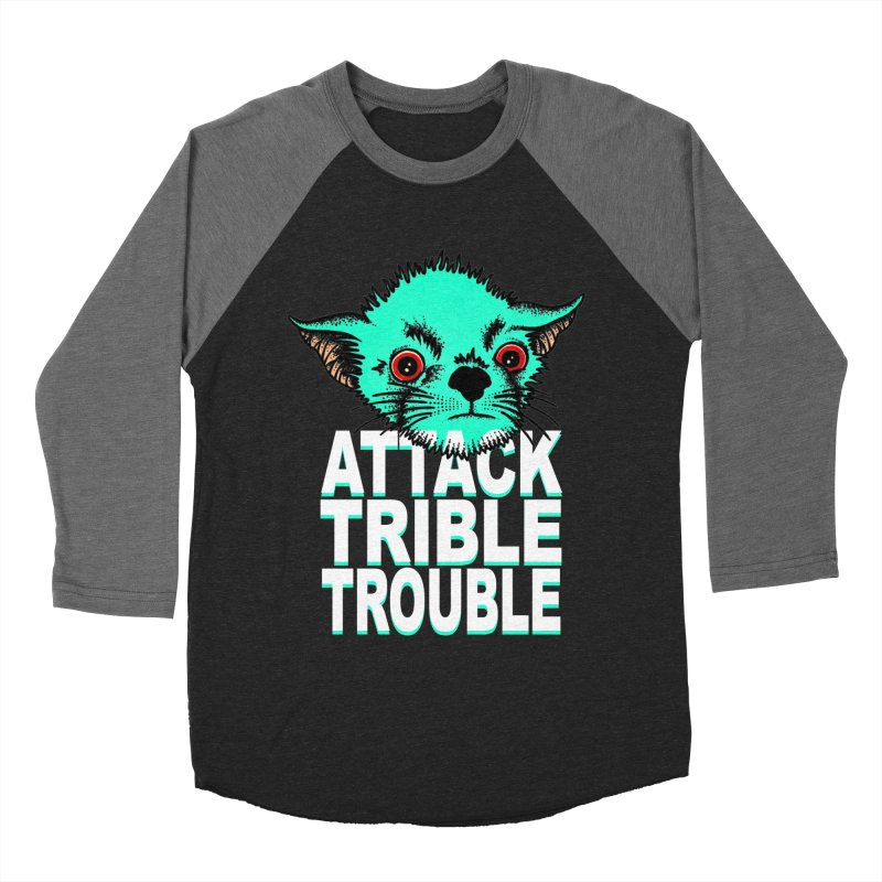 ATTACK TRIBLE TROUBLE Women's Baseball Triblend Longsleeve T-Shirt by pesst's Artist Shop