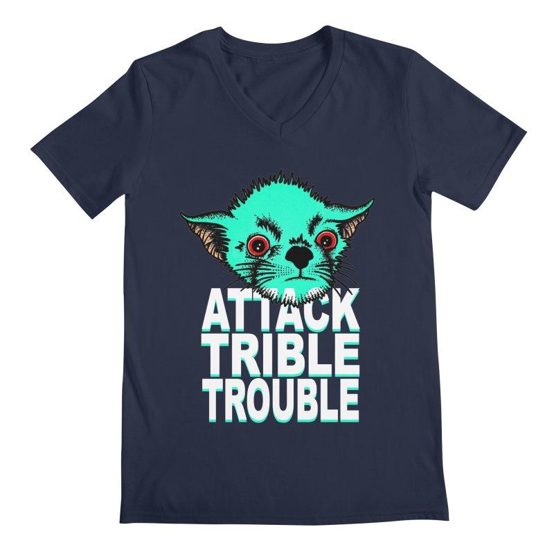 ATTACK TRIBLE TROUBLE Men's Regular V-Neck by pesst's Artist Shop
