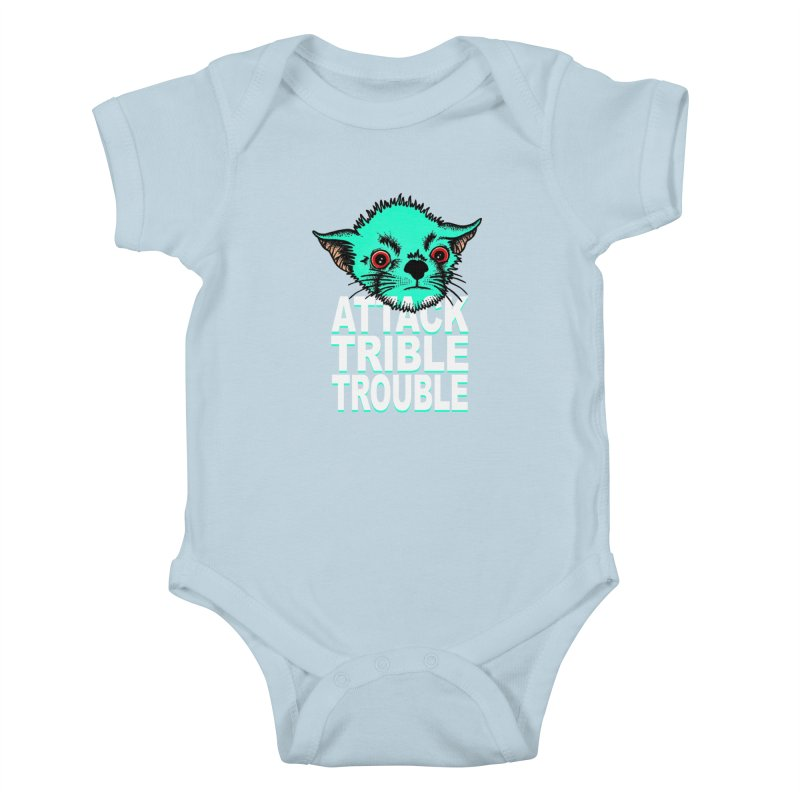 ATTACK TRIBLE TROUBLE Kids Baby Bodysuit by pesst's Artist Shop