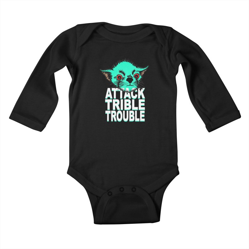 ATTACK TRIBLE TROUBLE Kids Baby Longsleeve Bodysuit by pesst's Artist Shop