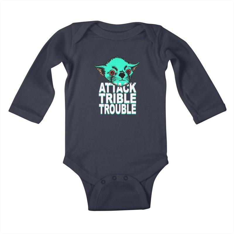 ATTACK TRIBLE TROUBLE Kids Baby Longsleeve Bodysuit by pesst's Artist Shop
